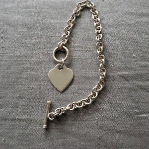 Sterling Sliver Toggle Heart bracelet
